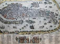 View of the city of Venice Braun  Hogenberg 1581