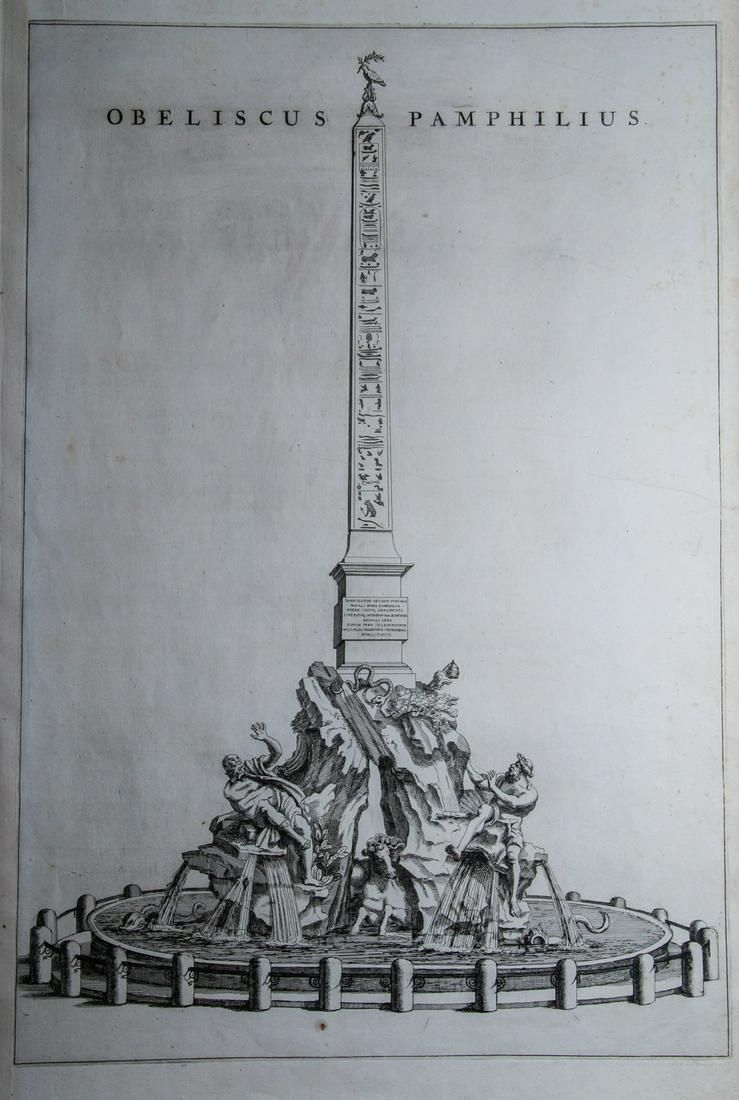Pierre Mortier  Obeliscus Pamphilius, Year 1705
