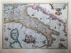 Abraham Ortelius: Italiae Novissima Diescriptio