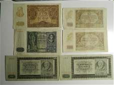 General Government / Bohemia Lot 6 WW2 Banknotes