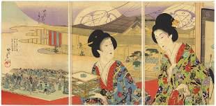 Chikanobu Yoshu, Beauties, Theatre, High-ranking