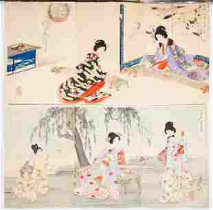 Chikanobu Yoshu, Beauties, Court Ladies, Chiyoda