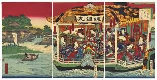 Toyokuni IV Utagawa, Ikkei Shosai, Beauties, Pleasure