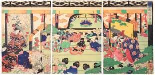 Yoshitsuya Utagawa, Beauties, Celebration at Kamakura