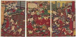 Chikanobu Toyohara, Beauties, Party, Royal College