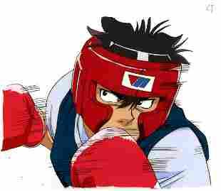 Hajime no Ippo Takeshi Sendo Cel Sketch