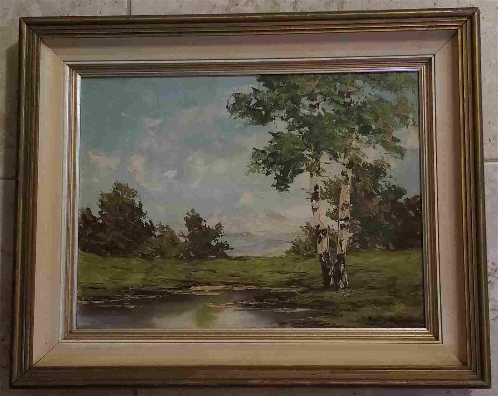 Emile Gruppe Oil Canvas