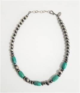 Vintage Sterling Silver Bilagaana Necklace