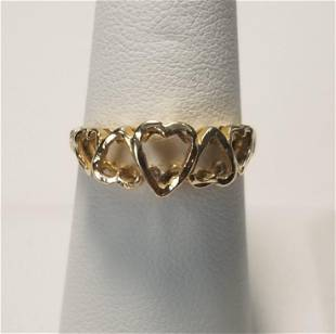 Nice 14 KT Gold Heart Shaped Ring