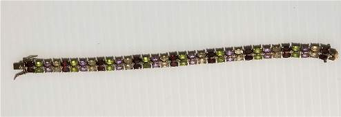 Nice 925 Different Colors Stones Bracelet
