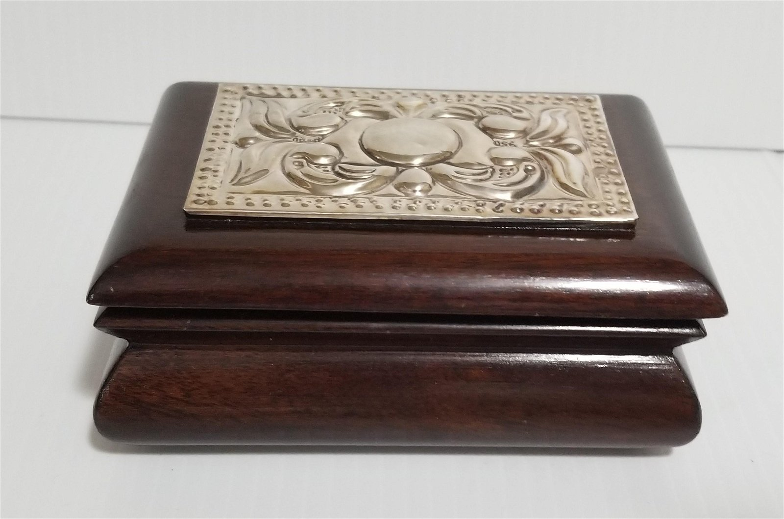 Nice 950 Sterling Silver Wood Jewelry Box