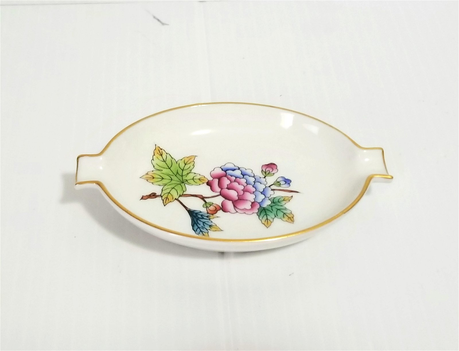 Herend Hand Painted Porcelain Ashtray