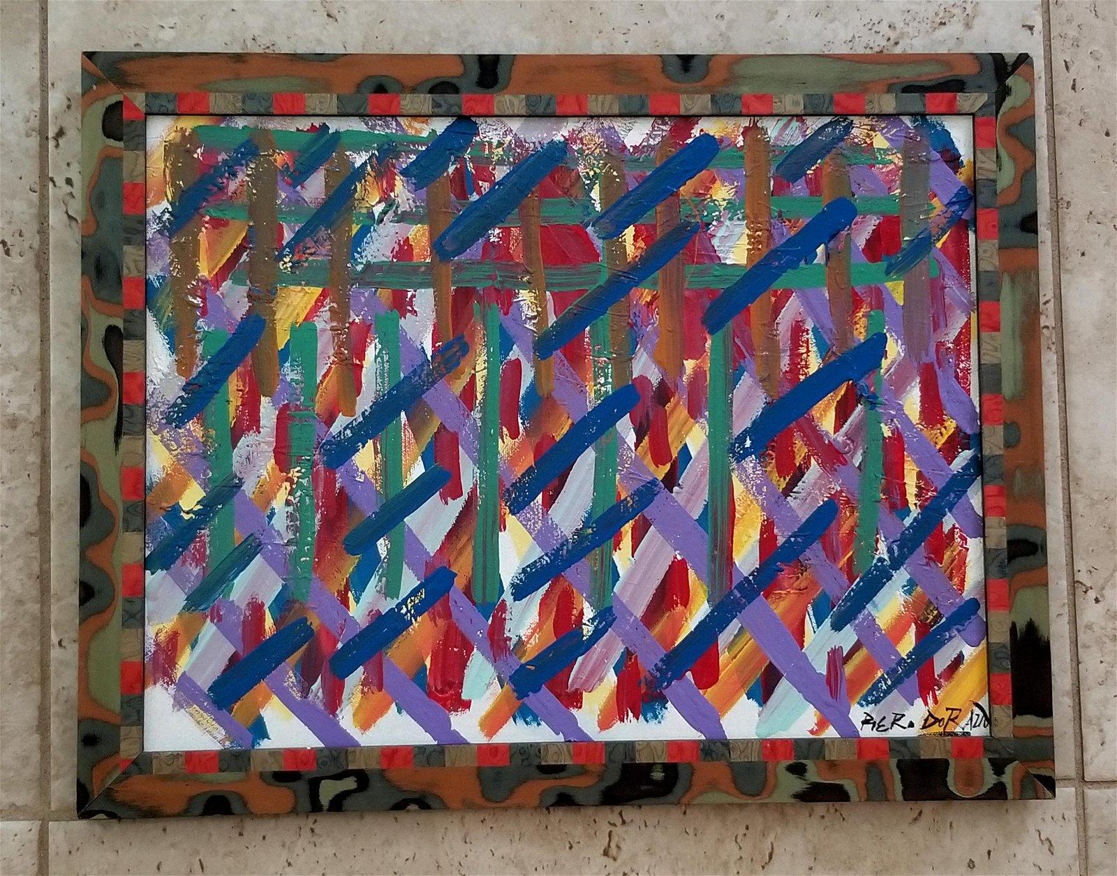 Piero Dorazio Oil Canvas Amazing Abstract