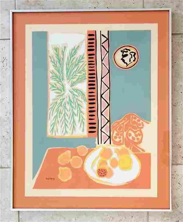 Henri Matisse Color Lithograph 1947