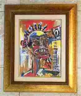 Jean Michel Basquiat Acrylic on Paper