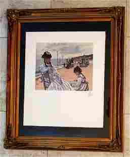 Claude Monet Mourlot Color Lithograph