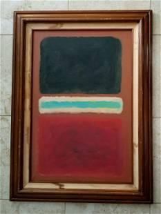 Mark Rothko Large Oil Canvas