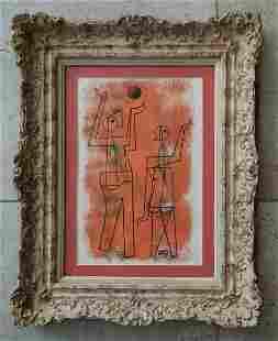 Carlos Merida 1969 Mixed Media