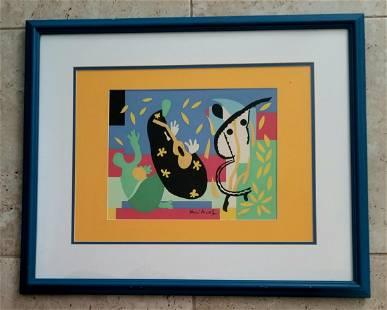 Henri Matisse Hand Silk Screen