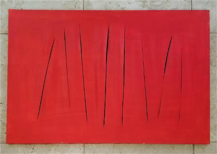 Lucio Fontana Water Paint Canvas