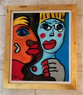 Original Peter Keil 1969 Acrylic Board