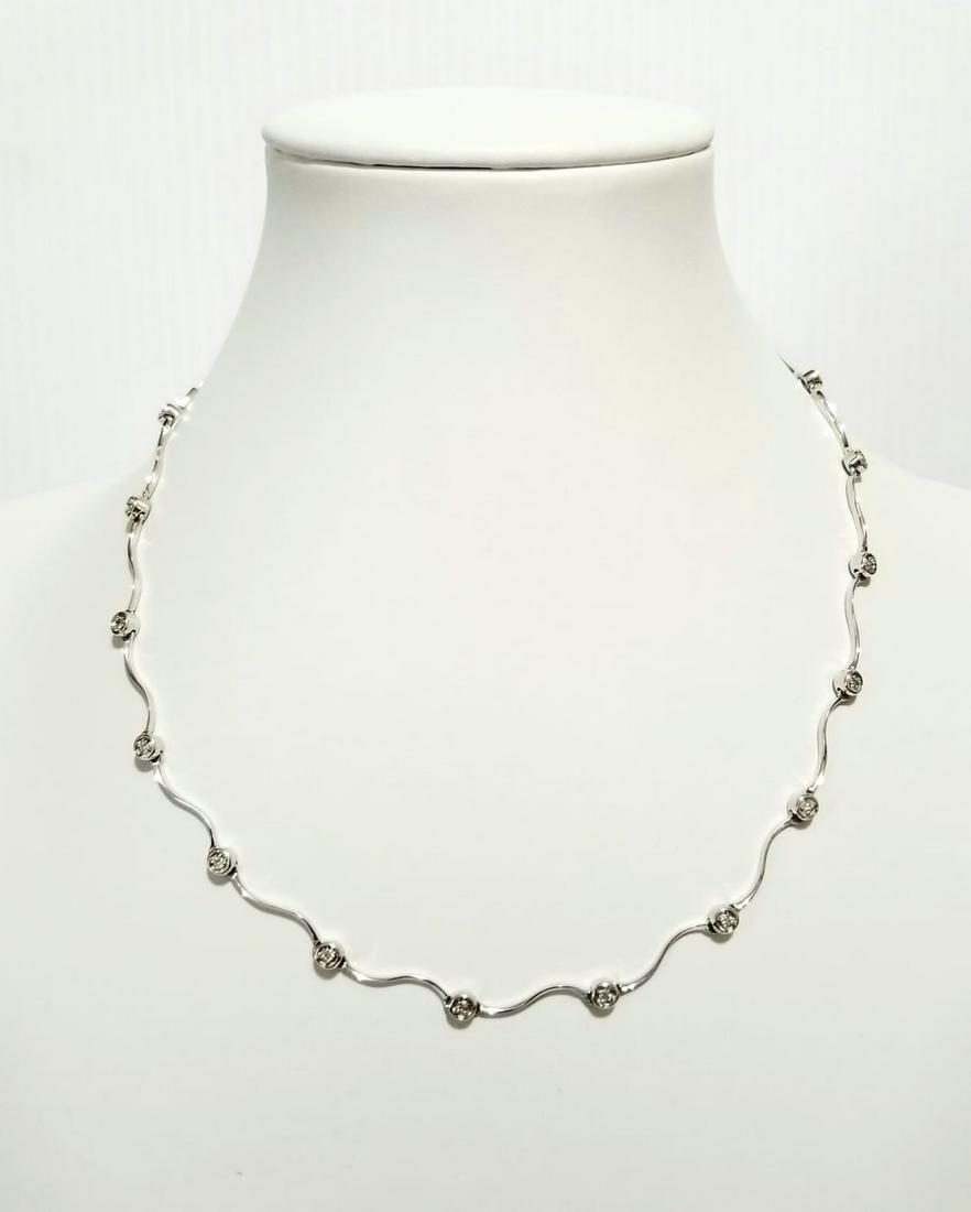 Beautiful 14KT Gold Diamond Choker Necklace