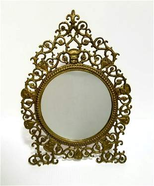 Nice Antique Bronze Mirror Picture Frame