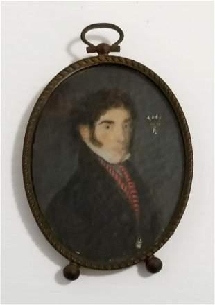 Antique Hand Painted Signed Portrait