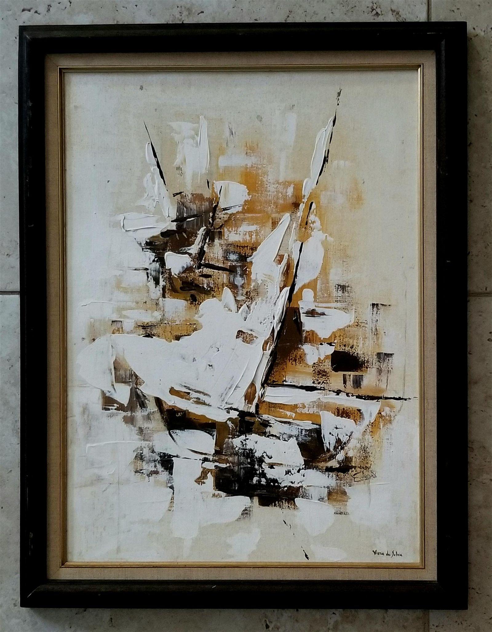 Maria Helena Vieira Da Silva Oil Canvas