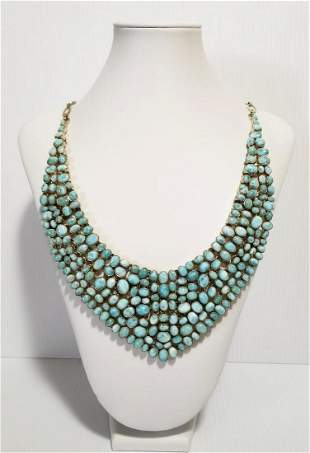 Amazing 925 Silver Turquoise Necklace