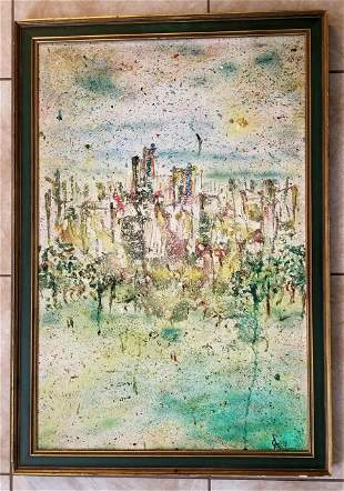 Rolf Cavael Abstract Oil Canvas