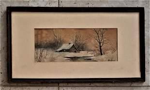 Edmund Darch Lewis American 1835-1910 Watercolor