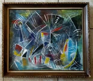 Roberto Matta Oil and Acrylic Canvas