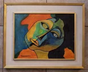 Oswaldo Guayasamin Oil Canvas