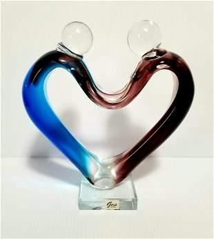 Gea Heart Love Art Glass Sculpture