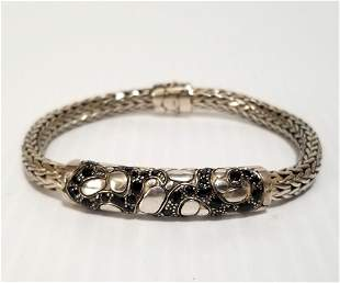 John Hardy Sterling Silver Black Sapphire Kali Bracelet