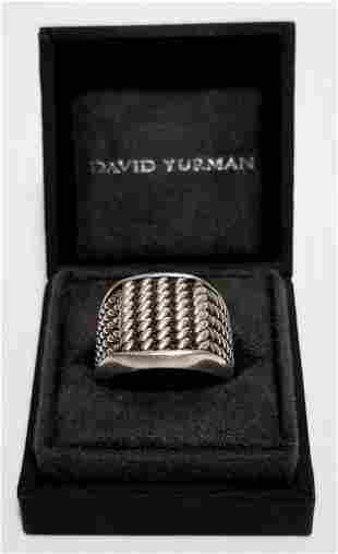 David Yurman Maritime 925 Sterling Rope Ring