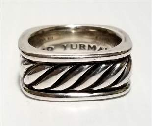 David Yurman Squared Band Sterling Ring