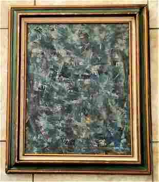 Robert Burns Hedrick 1956 Oil Board