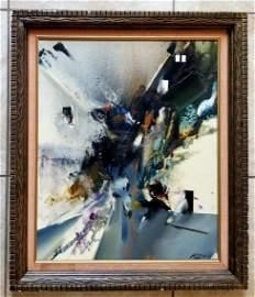 Amazing Merton D Simpson 1983 Acrylic Canvas