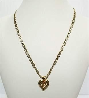 Elegant 10KT Italy 14KT Pendant Necklace
