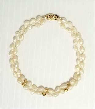 Beautiful 14KT IPS Fresh Water Pearl Bracelet