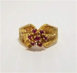 Beautiful 14 KT Red Ruby Ring