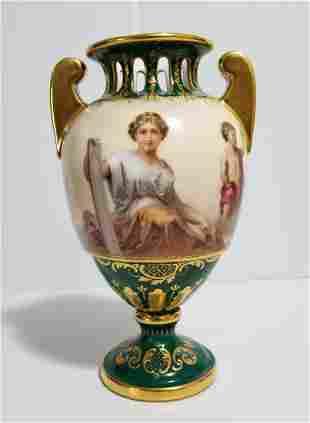 Amazing 19th C Royal Vienna Vase Porcelain