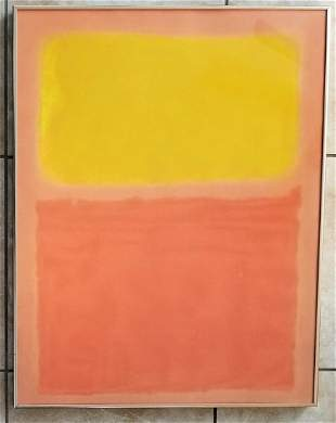 Mark Rothko Orange & Yellow 1956 Lithograph
