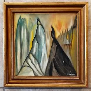 Hans Gustav Burkhardt Oil Canvas