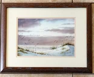 Ralph Taylor Seashore Watercolor/Paper
