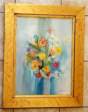 Amazing Jane Peterson Still Life Watercolor/Paper