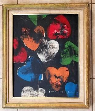 Jim Dine Broken Hearts Oil Canvas