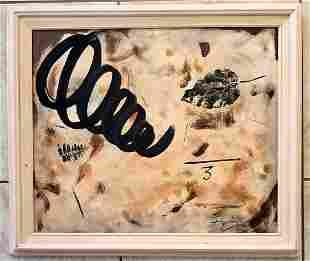 Antoni Tapies Oil Canvas